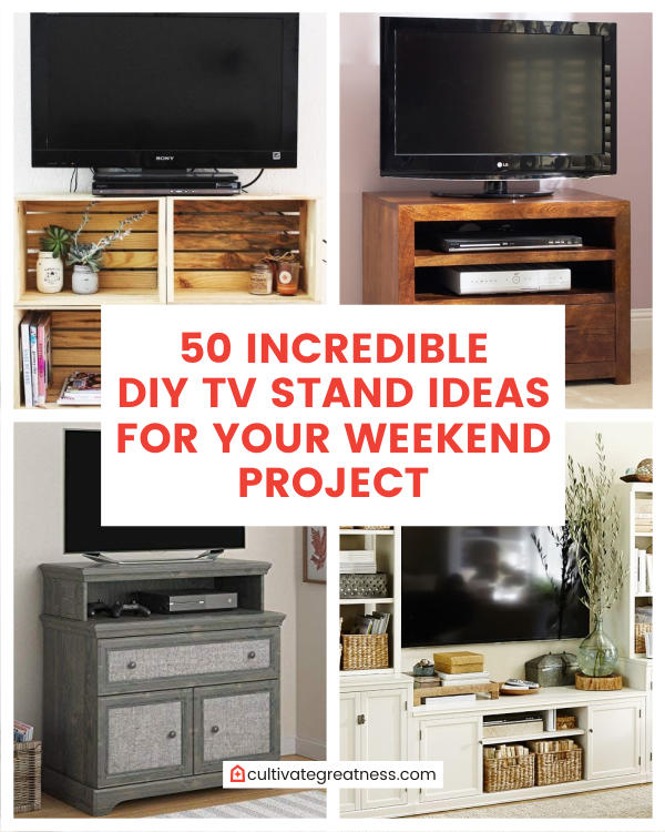 50 Incredible DIY TV Stand Ideas for Your Weekend Projects