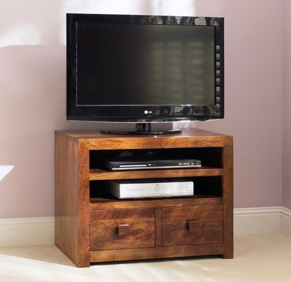 TV Storage Unit with Wooden Box Tv Stand