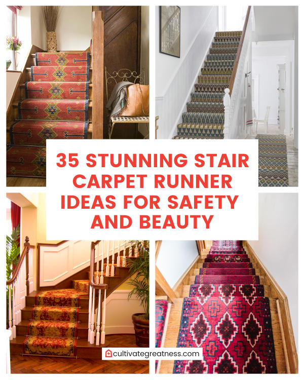 Stunning Stair Carpet Runner Ideas for Safety and Beauty