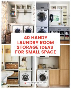 Handy Laundry Room Storage Ideas for Small Space
