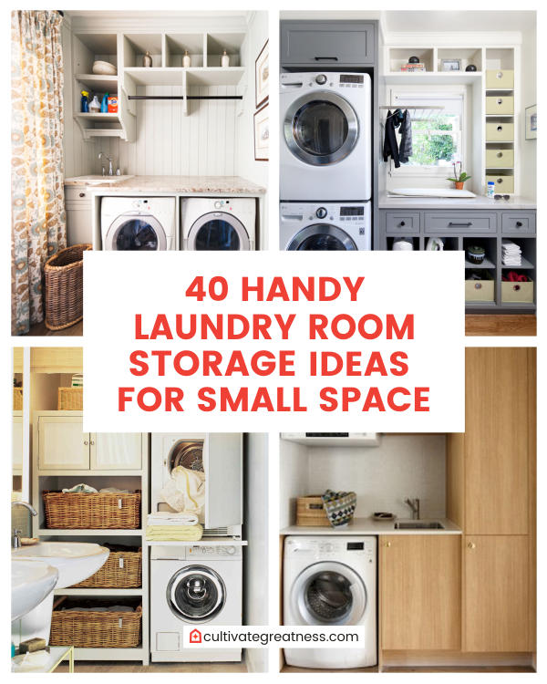 40 Handy Laundry Room Storage Ideas For Small Space