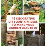 Decorative DIY Fountain Ideas to Make Your Garden Beautiful