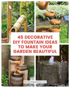 Decorative DIY Fountain Ideas to Make Your Garden Beautiful
