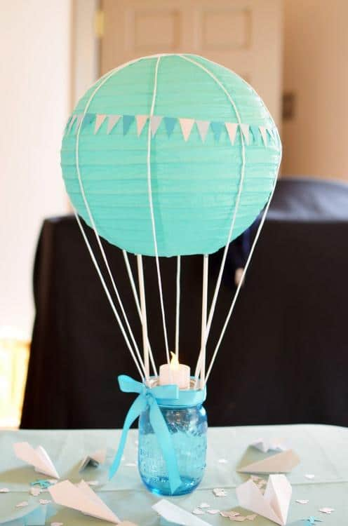 baby shower balloon centerpieces
