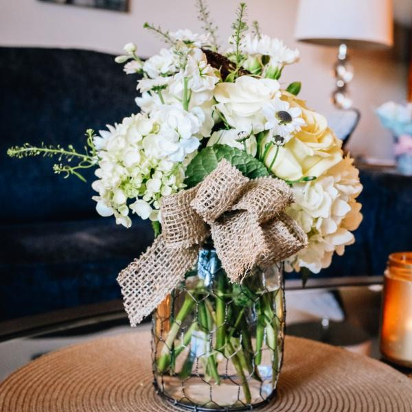 baby shower floral centerpieces