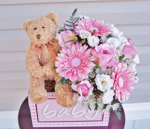 baby shower flower centerpieces