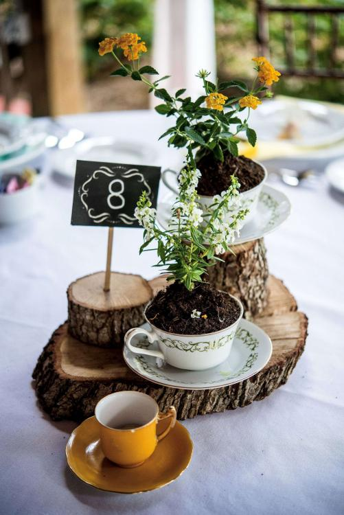 baby shower table centerpieces