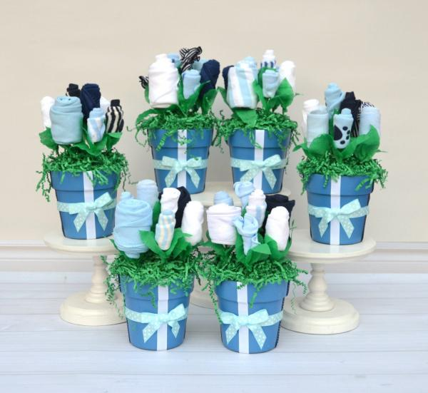 baby shower vase centerpieces