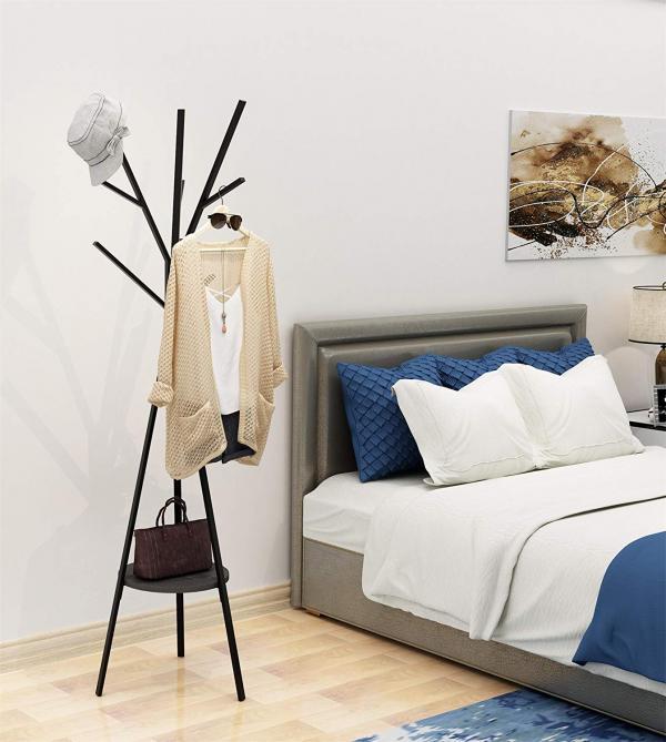 bedroom hat rack