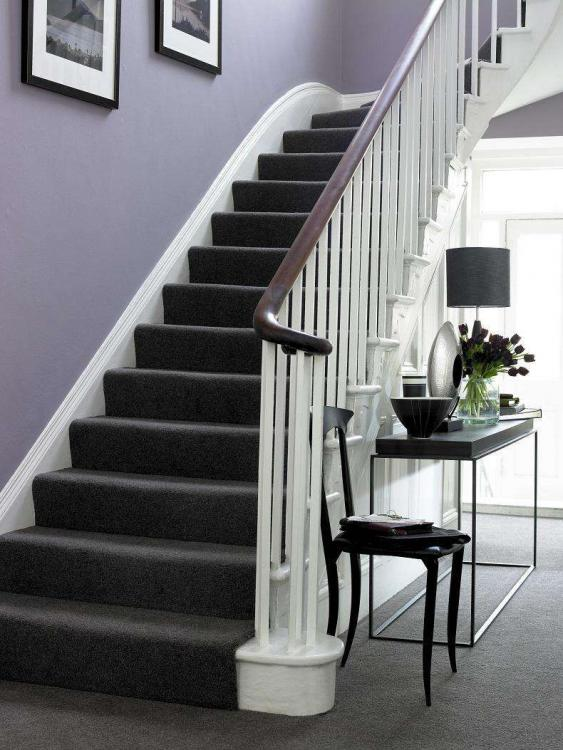 black stair carpet