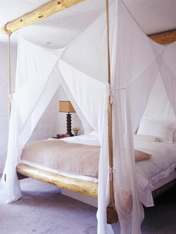 canopy bed curtain ideas