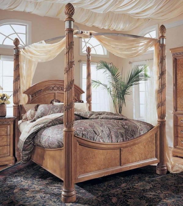 canopy bedroom sets with curtains