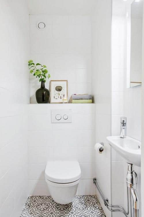 colour schemes for downstairs toilets