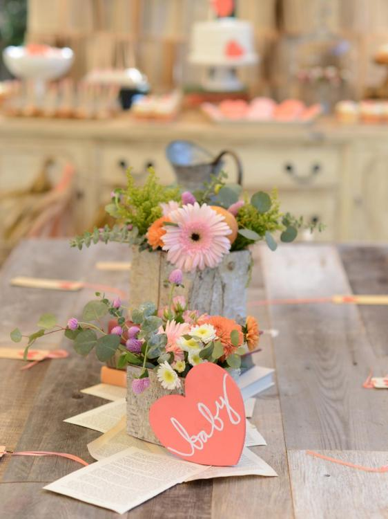 creative baby shower centerpieces