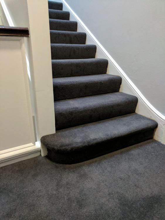 dark grey stair carpet