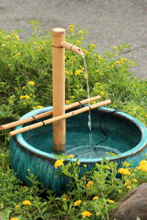 diy bamboo fountain