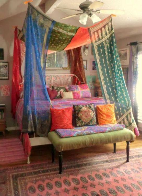 diy bohemian bed canopy