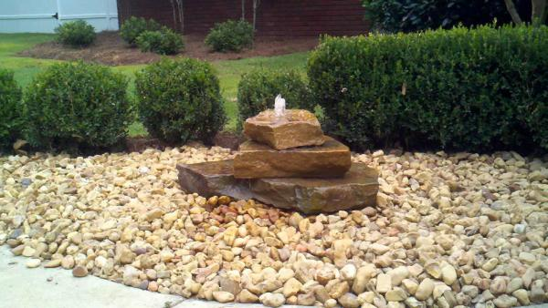diy bubbling rock fountain