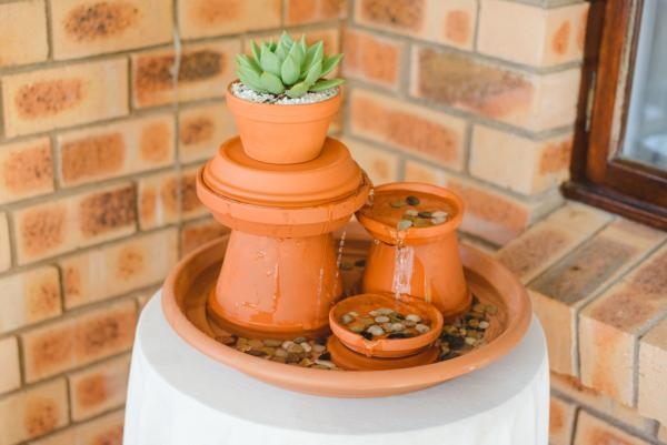 diy clay pot fountain