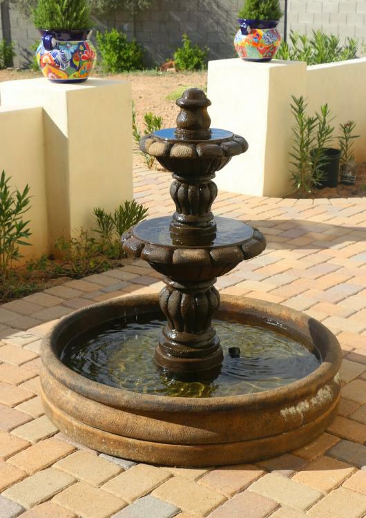 diy colonial fountain