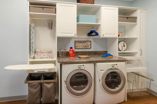 diy laundry room storage