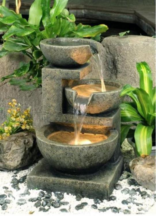 diy outdoor water fountain