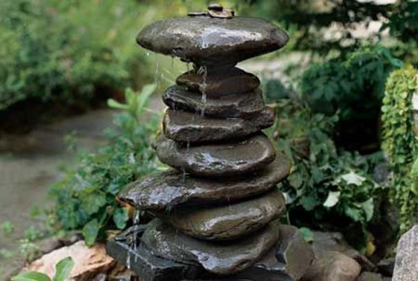 diy rock fountain