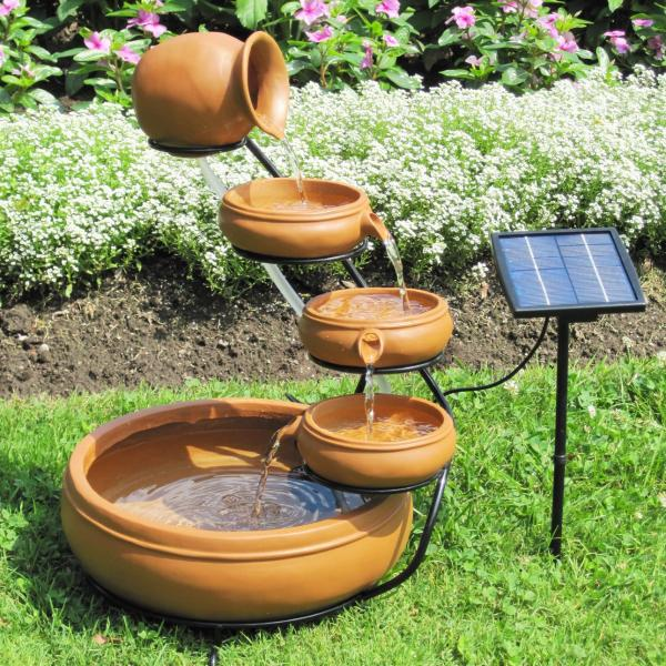 diy solar fountain ideas