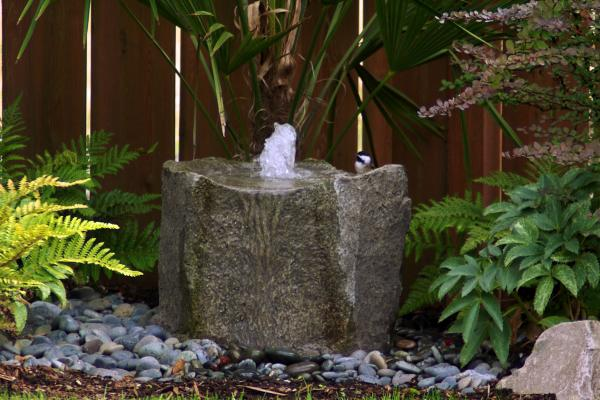 diy stone fountain