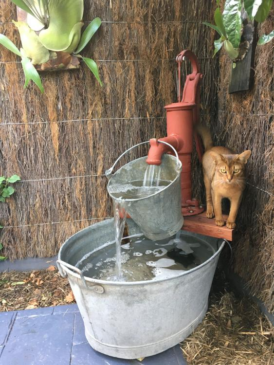 diy water fountain pump