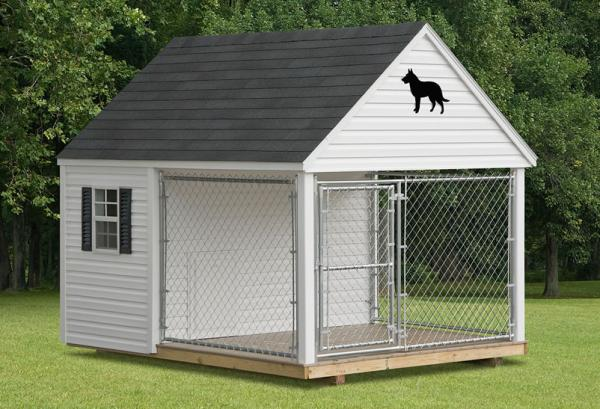 dog house with awning