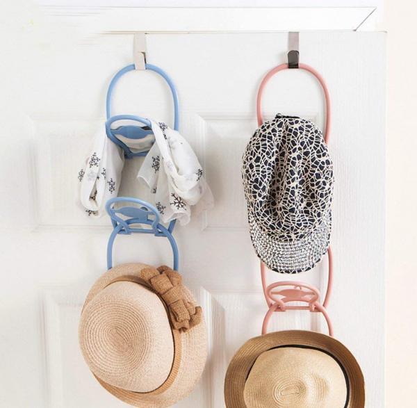 door mounted hat rack