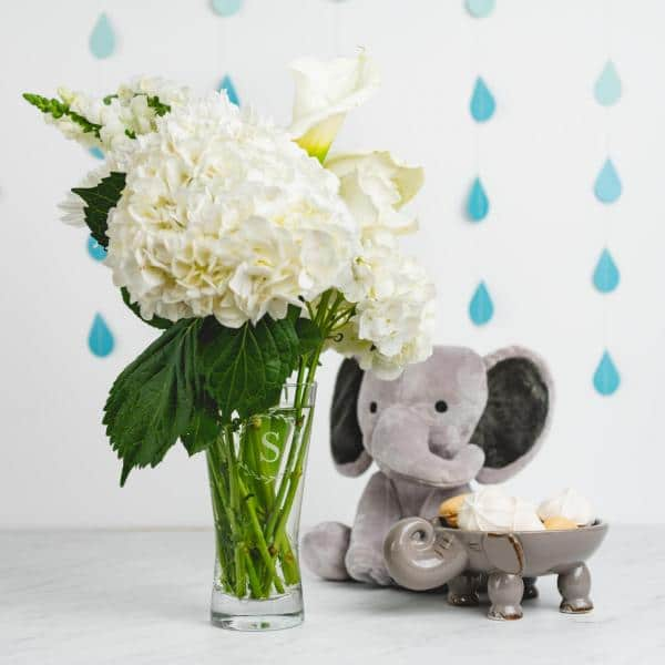 elegant baby shower centerpieces
