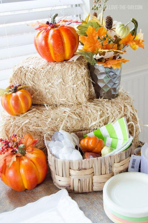 fall baby shower centerpieces