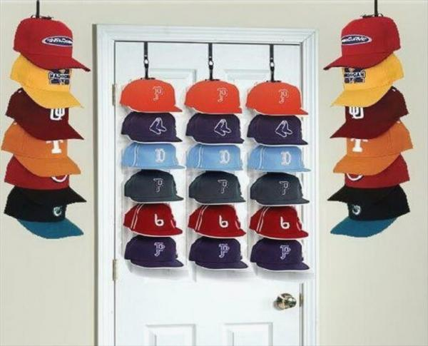 fitted hat rack