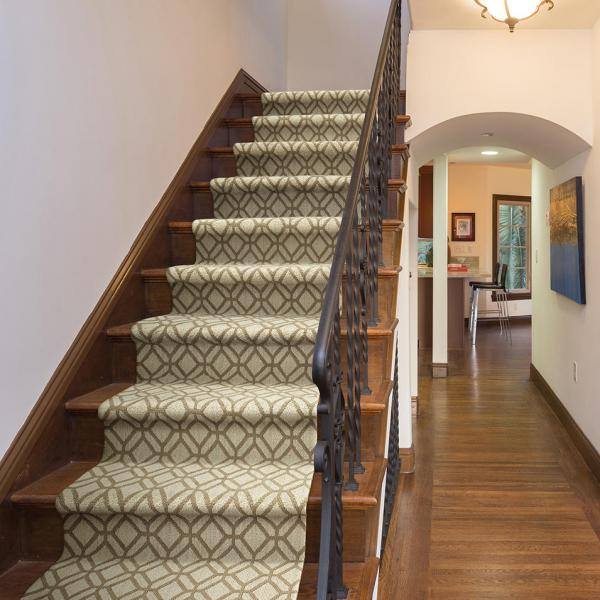 geometric stair carpet