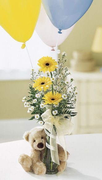 girl baby shower flower centerpieces