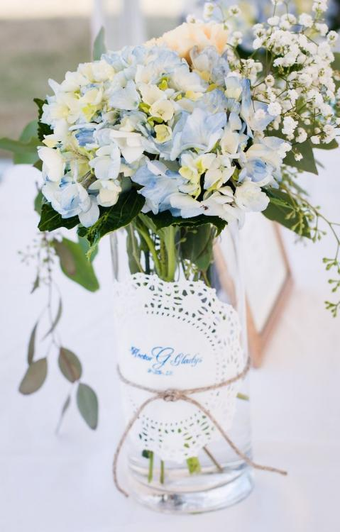 glass vase baby shower centerpieces
