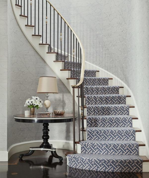 herringbone carpet stair runner