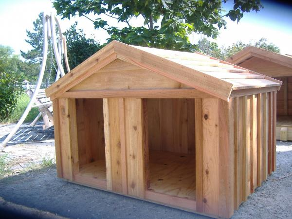 large cedar dog house