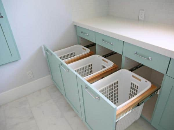 laundry room basket storage