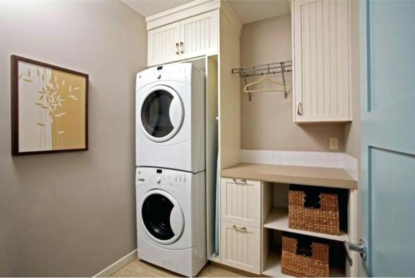 laundry room built in storage