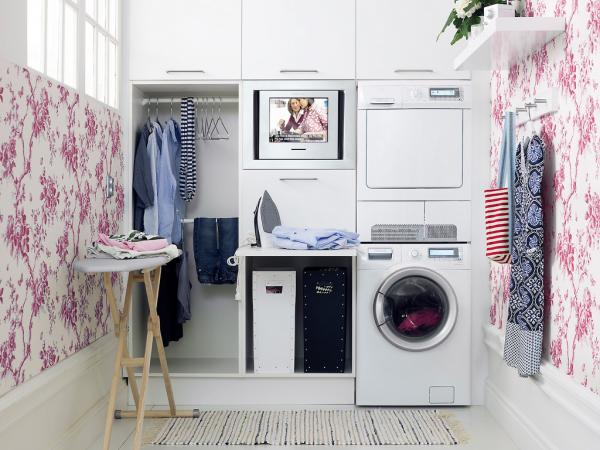 laundry room clothes storage