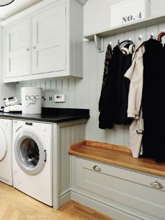 laundry room coat storage