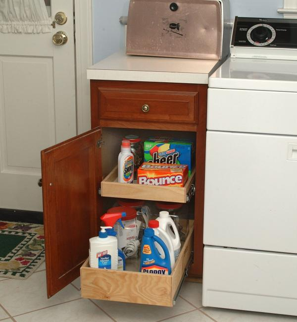 laundry room detergent storage