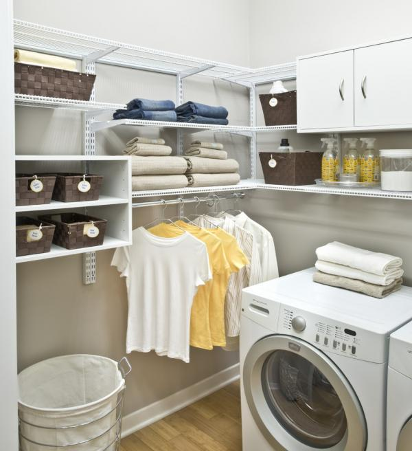 laundry room hanger storage