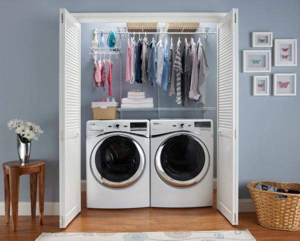 laundry room hanging storage