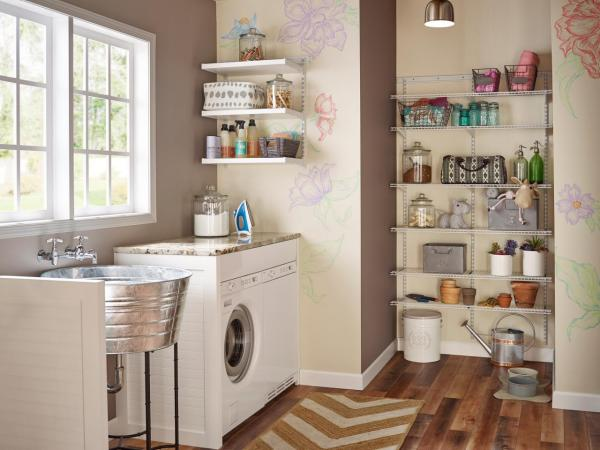 laundry room storage shelves