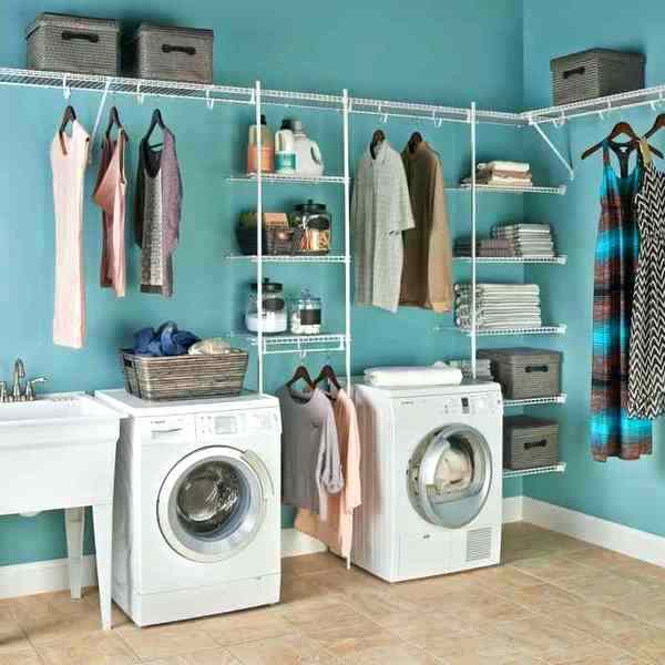 laundry room wall storage ideas