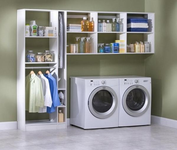 laundry room wall storage